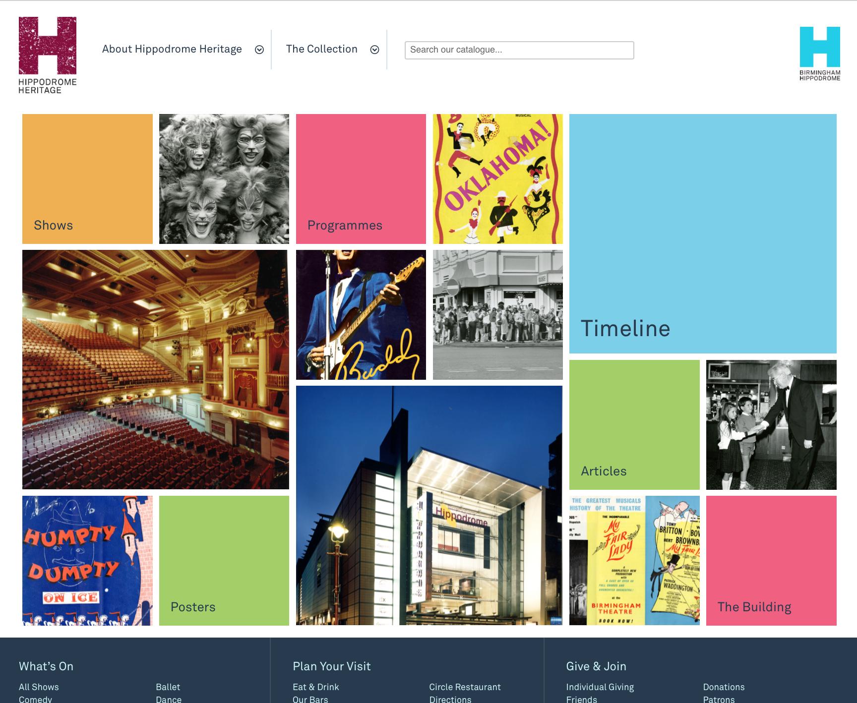Birmingham Hippodrome Heritage website