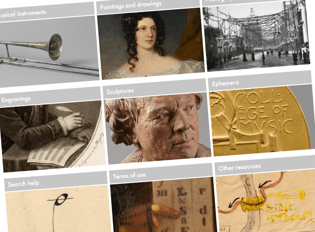 grid of themes from the collection with thumbnail images