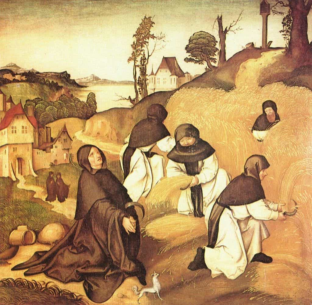 An illustration of Cistercians at work by Jörg Breu the Elder, 1500